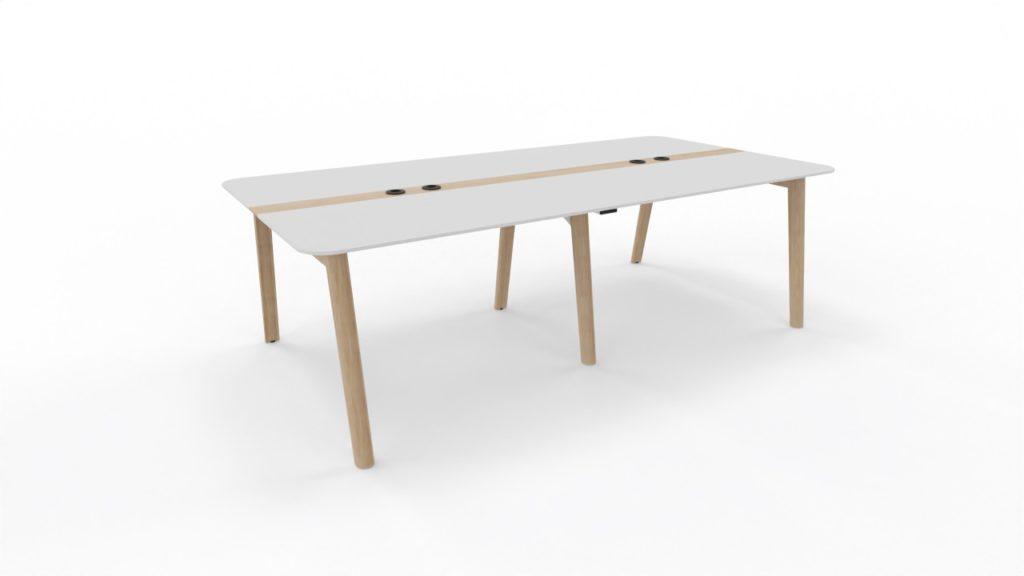 arredo per ufficio - Tavolo Riunioni Nova Wood -piano in HPL