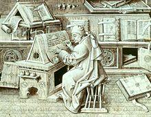 scrittoio medievale
